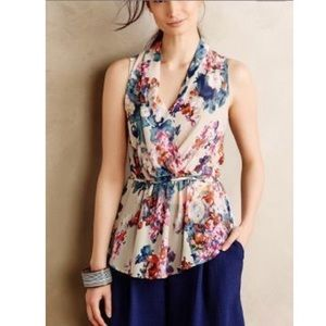 Anthropologie Sunday in Brooklyn Floral Blouse